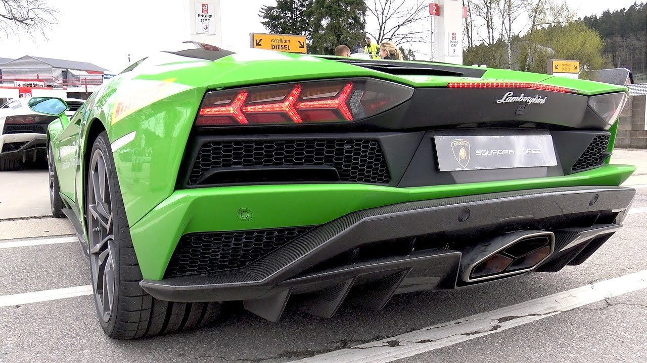 2017 Lamborghini Aventador S On Track Start Up Revs Accelerations Youtube