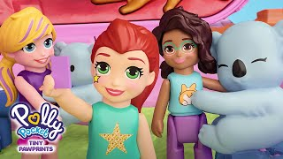 Polly Pawprints Adventures 3D Ep. 7 | Up Up & G'Day! Hot Air Balloon Adventure! 🐨 | @PollyPocket
