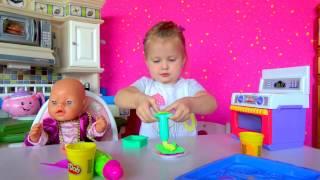 Кукла БЕБИ БОН Катя. Готовим печенье для беби бон.Игры в куклы.Видео для детей. DOLL BABY BORN