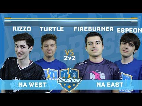 2v2 NA EAST (Fireburner/Espeon) vs NA WEST (Turtle/Rizzo) at Gold Rush LAN set-of-3