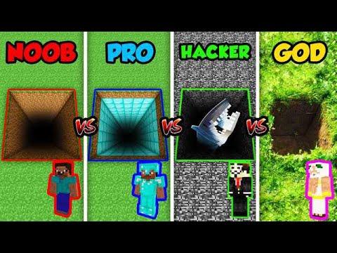 minecraft noob vs pro vs hacker vs god secret hole in minecraft animation youtube. Black Bedroom Furniture Sets. Home Design Ideas