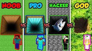 Minecraft NOOB vs. PRO vs. HACKER vs. GOD: SECRET HOLE in Minecraft! (Animation)