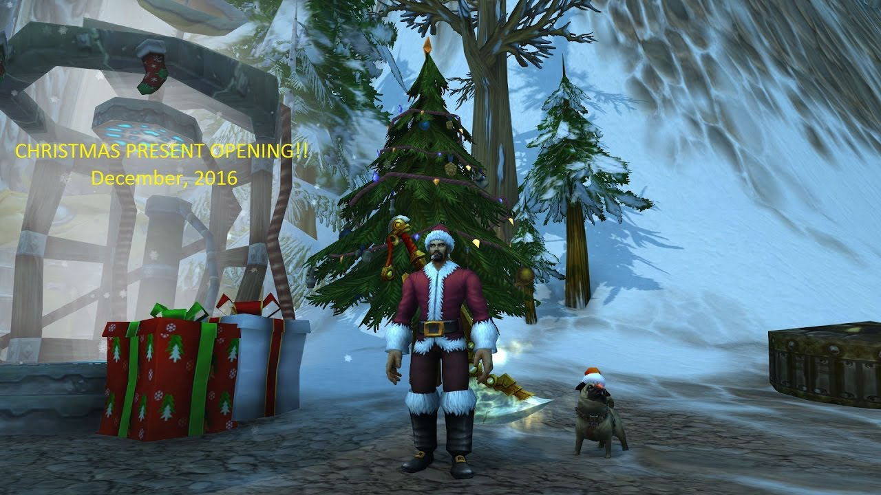 world of warcraft opening christmas presents 2016 - World Of Warcraft Christmas