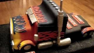 Transformers - Optimus Prime Fondant Birthday Cake