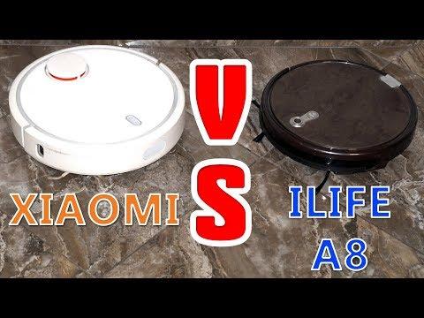 Смотреть ТЕСТ РОБОТ ПЫЛЕСОС ILIFE X660 A8 или Xiaomi КТО УБИРАЕТ ЛУЧШЕ онлайн