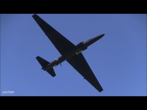 "Lockheed U-2 ""Dragon Lady"".Fly-by! USAF,5th Reconnaissance Squadron(5 RS).at Yokota Air Base(Tokyo)"