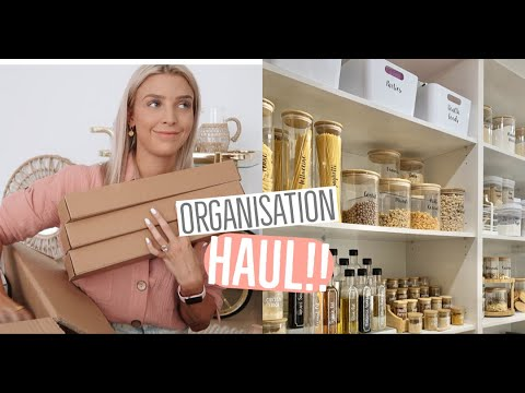 ORGANISATION & STORAGE HAUL!! How I Organise Our Drawers/ Pantry Update!