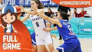 Slovak Republic v Greece - Full Game - FIBA U20 Women's European Championship 2017 - DIV B thumbnail