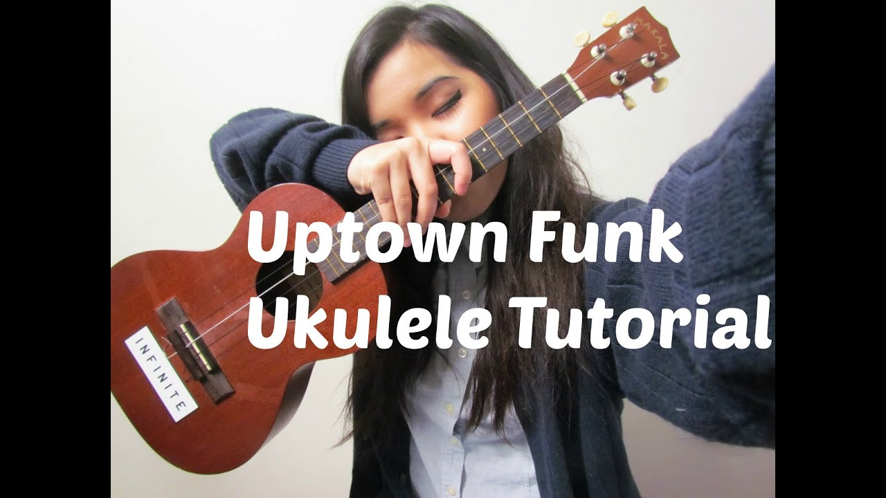 Uptown Funk Ukulele Tutorial - YouTube