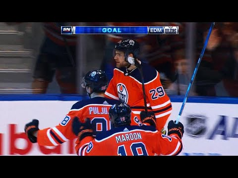 Oilers' Nugent-Hopkins, Draisaitl tie game late sending Rogers Place into frenzy