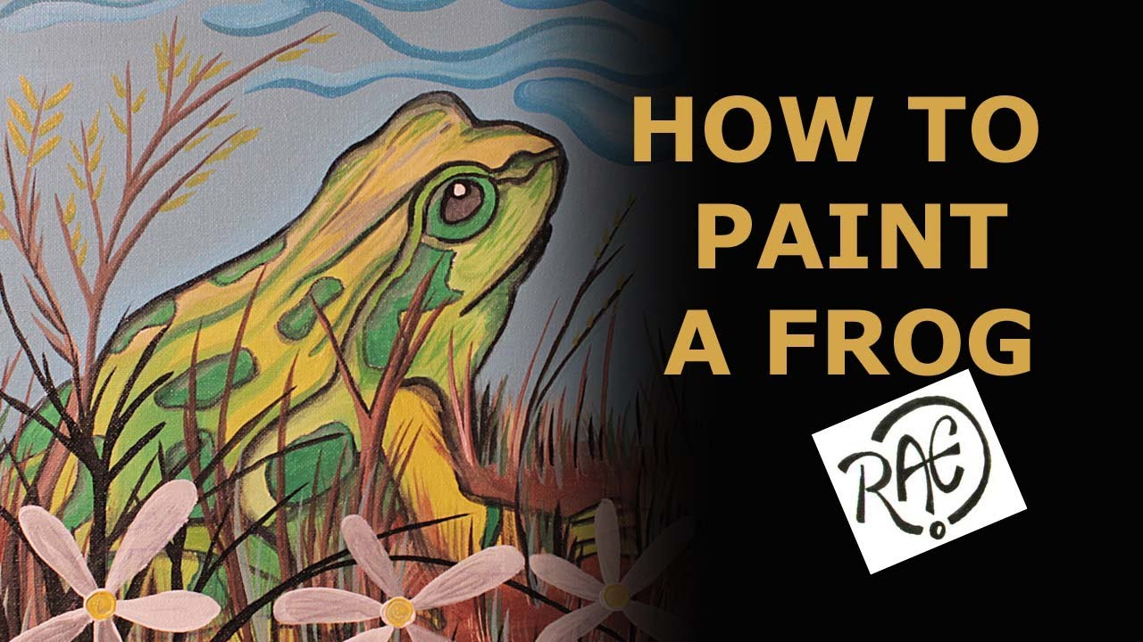 How To Paint A Frog Using Acrylic Paints Landscape Garden