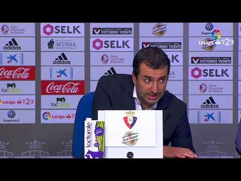 Rueda de prensa de Diego Martínez tras el Osasuna vs FC Barcelona B (2-2)