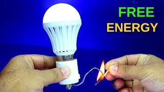 Free Energy Light Bulb Using Flame - Free Energy Experiment New Idea