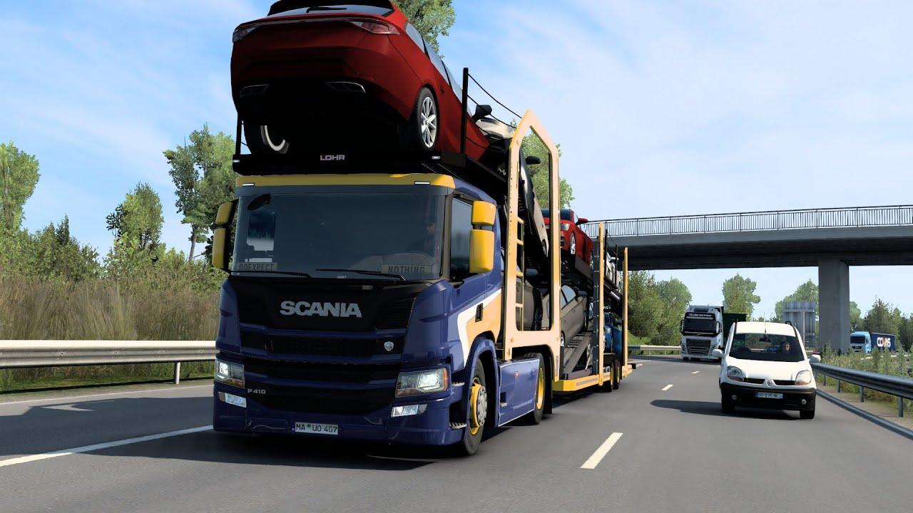 ETS2 1.40 Scania P410 Zaragoza - Le Havre