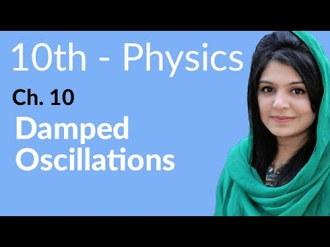 10th Class Physics Ch 10,Damped Oscillations-10th Physics book 2 Chapter 10
