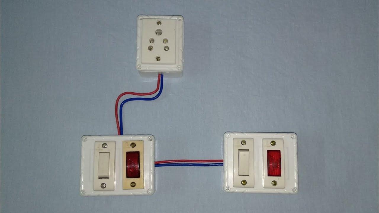 Water pump 2 floor on off with indicator wiring|पानी मोटर दो जगह    ऑन ऑफ  वायरिंग by Electric Guruj
