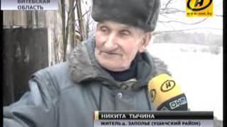 Одинокий пенсионер и аист зимуют одни в пустой деревне
