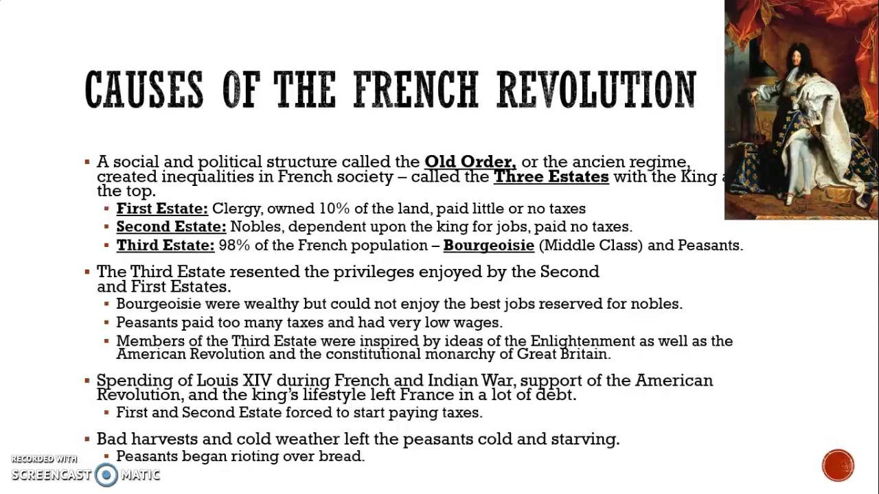 summary causes of french revolution Causes of the french revolution, short and long-term while he may have been somewhat sympathetic to the revolutionary cause and the needs of the third estate.