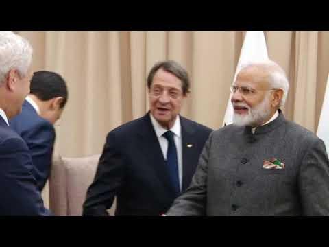 Indian PM Modi Meets Cyprus President On UNGA Sidelines