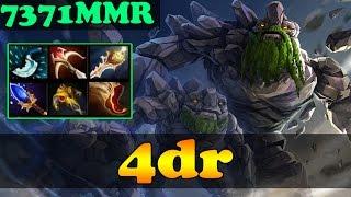 Dota 2 - 4dr 7371 MMR Plays Tiny Vol 1 - Ranked Match Gameplay!