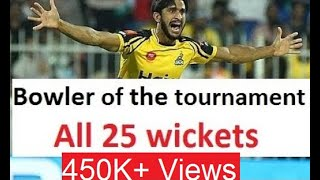vuclip Hassan Ali all 25 wickets in PSL 2019 | Great Bowling by Hasan Ali | PSL 2019