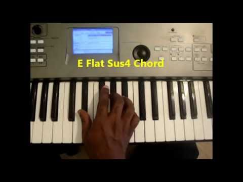 How To Play E Flat Sus4 Eb Sus 4 Chord On Piano Youtube