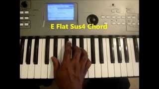 How To Play E Flat Sus4 (Eb Sus 4) Chord On Piano