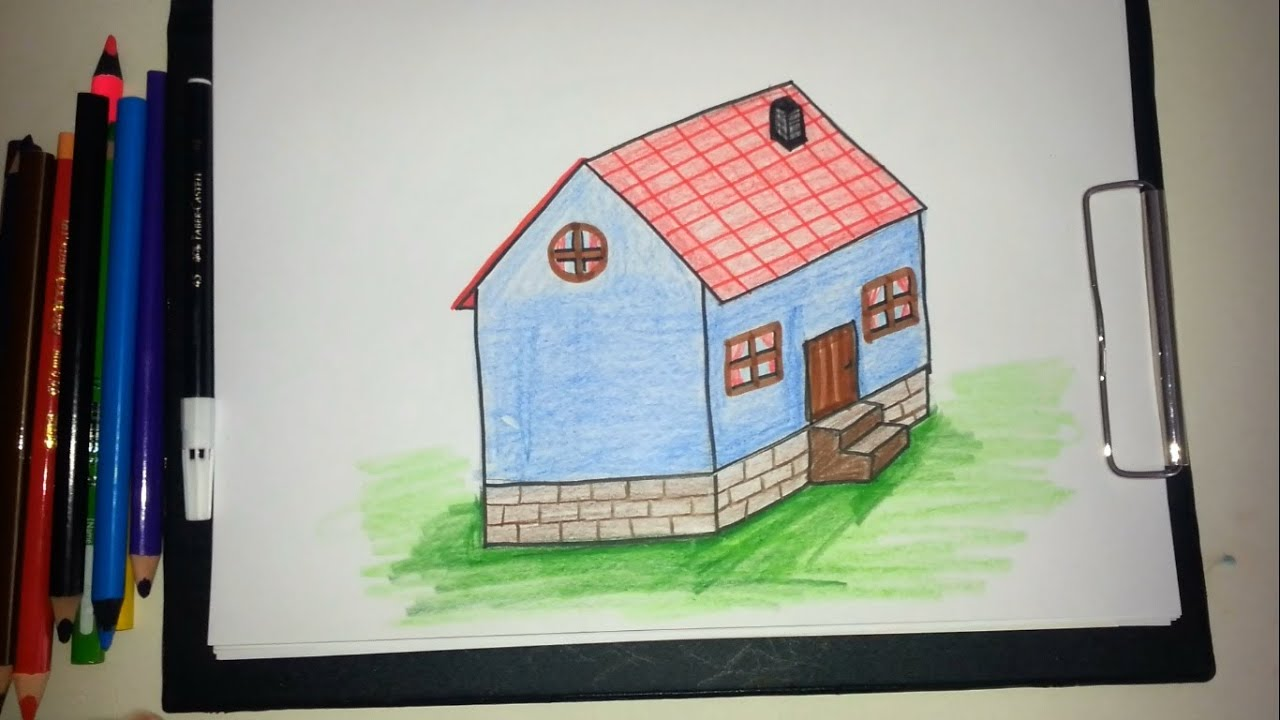 Ev Nasil Cizilir How To Draw A House Youtube