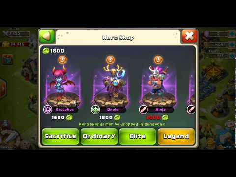 Castle Clash - Buying Druid With 1800 Shards