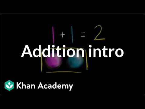 Introduction To Addition | Basic Addition And Subtraction | Early Math | Khan Academy