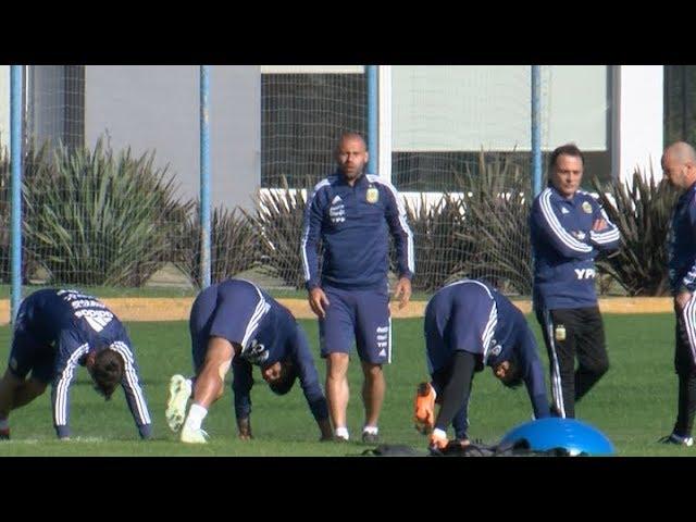 La selección argentina en plena preparación de cara al Mundial de Rusia