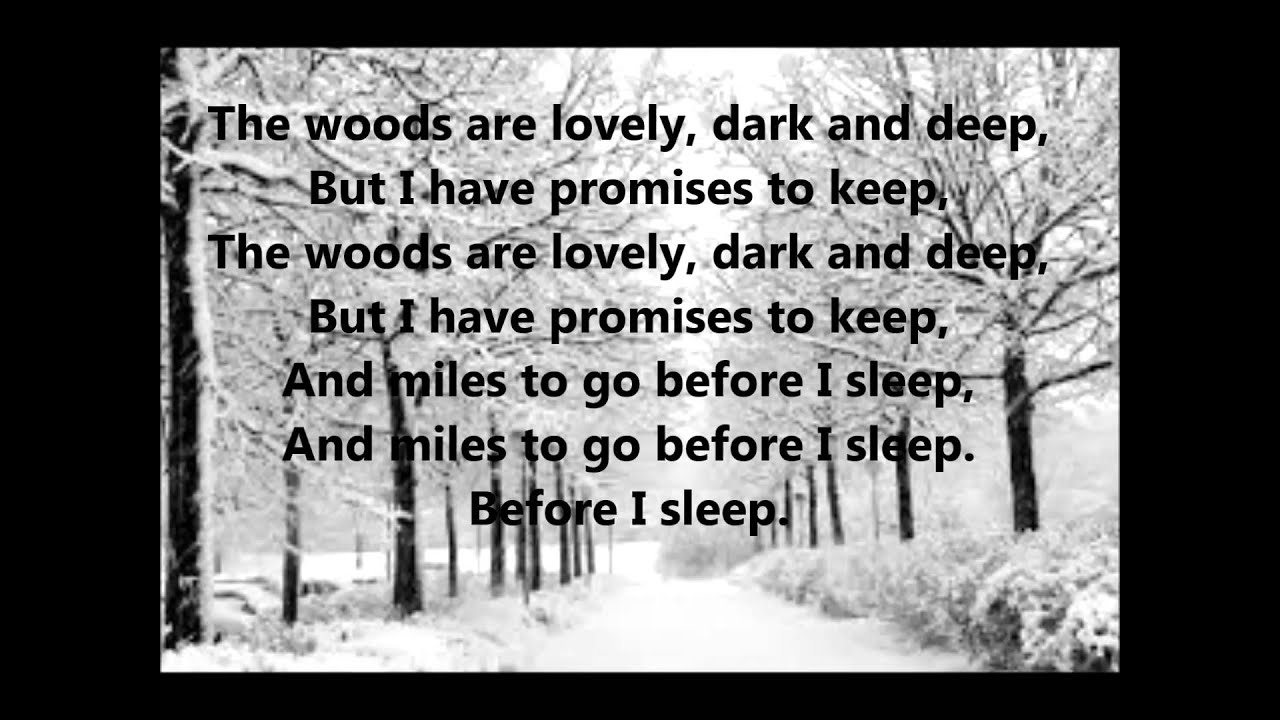 "the hidden meaning in words in stopping by woods on a snowy evening Compare and contrast stopping by woods on a snowny evening in ""stopping by woods on a snowy evening the road not taken is a poem with a hidden meaning."