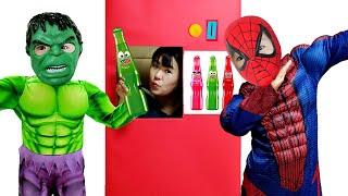 superheroes vending machine kids toys story 슈퍼 히어로 키즈 자이언트 자동 판매기 장난감 놀이 LittleJoy 리틀조이