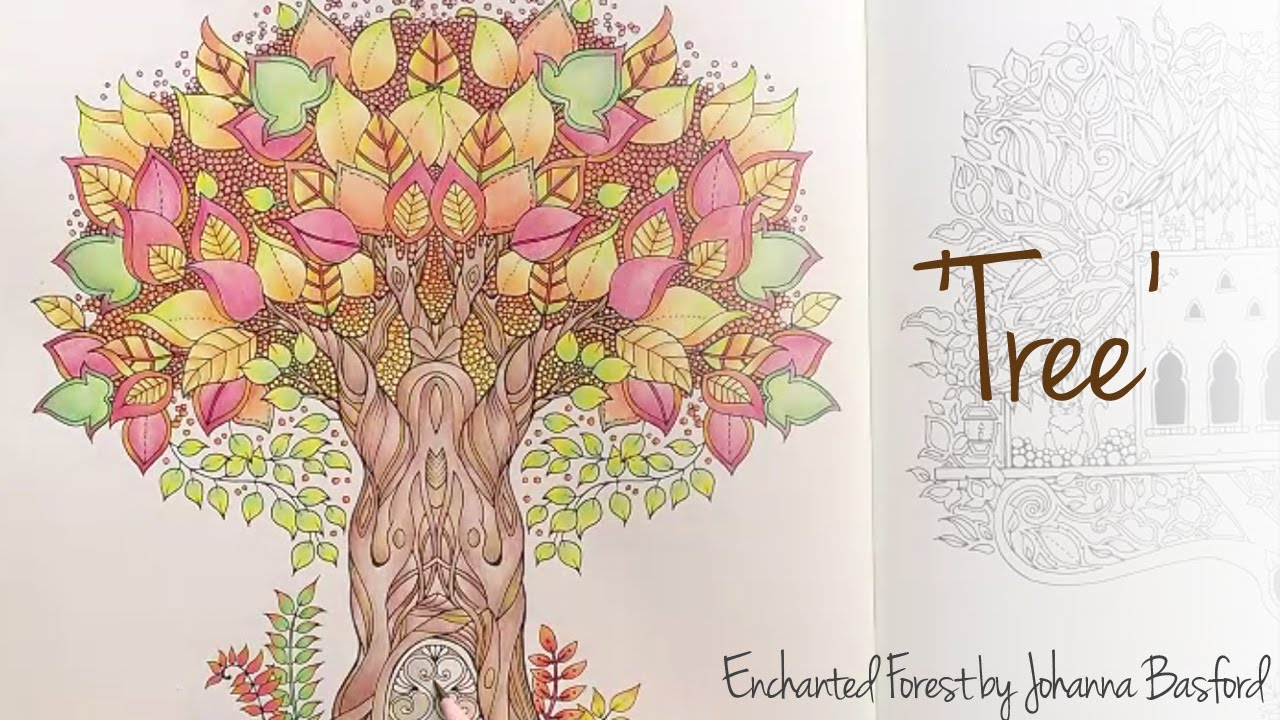 Enchanted Forest Johanna Basford Tree YouTube