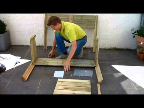 green it yourself montage d 39 un potager sur pieds youtube. Black Bedroom Furniture Sets. Home Design Ideas