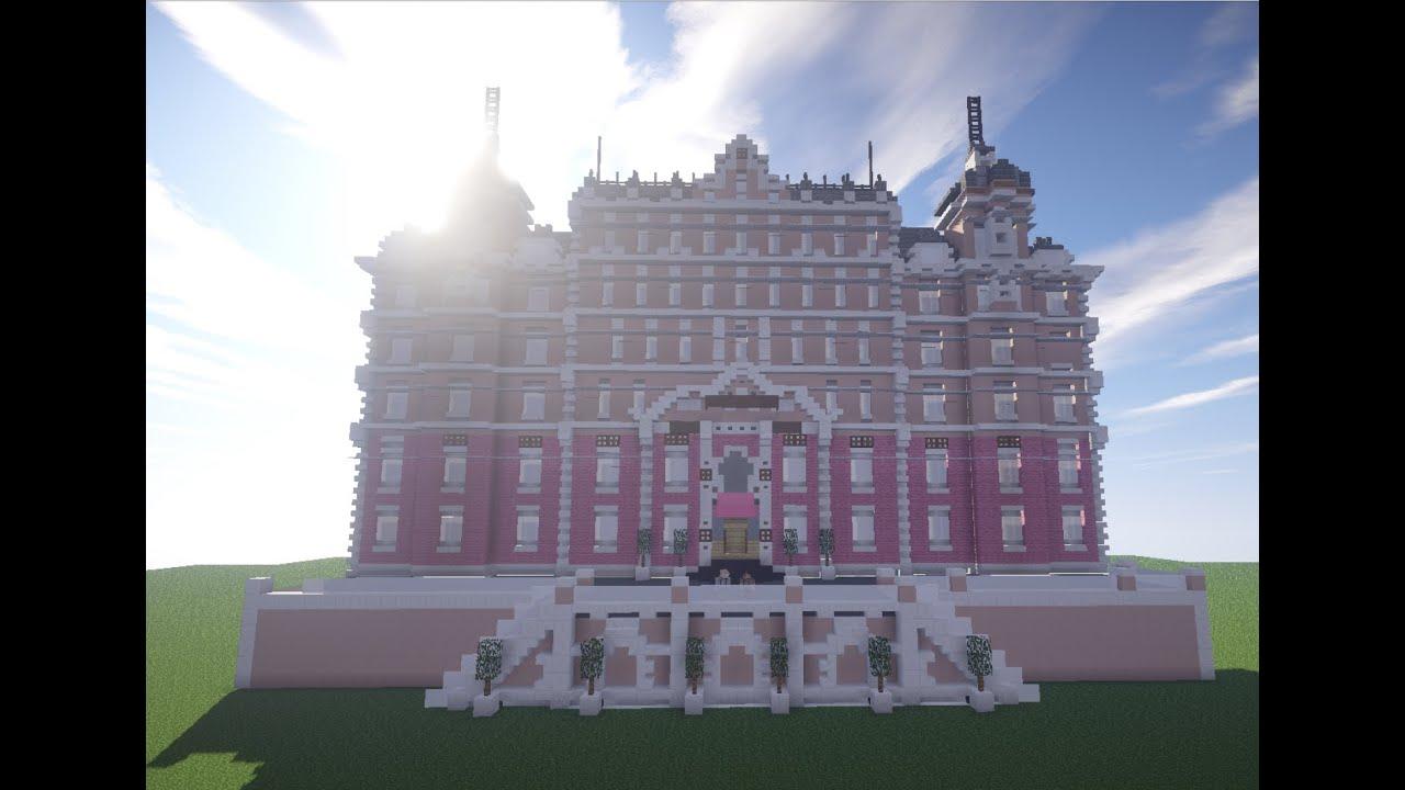 Minecraft Grand Budapest Hotel