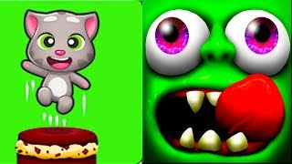 Zombie Tsunami vs talking tom cake jump   Android Gameplay   Friction Games