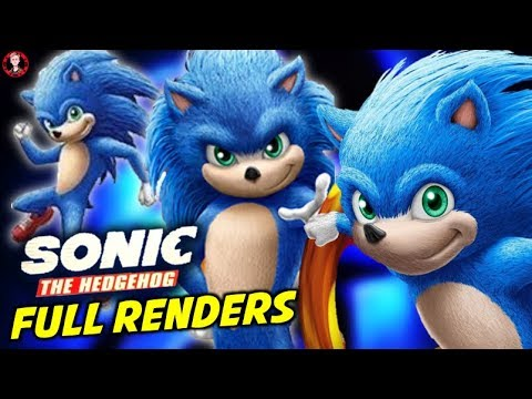 Sonic Movie Cgi Design Revealed Full Body Face Sonic The Hedgehog 2019 Youtube