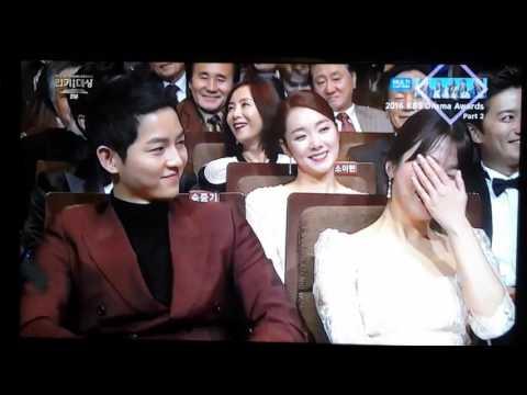 [ENG/CHI SUB] KBS Drama Awards 2016-SONG JOONG KI HYE KYO-Kim Min Suk picks Daesang winner