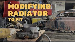 MODIFYING A RADIATOR TO FIT A 1935 HUPP FLATHEAD STRAIGHT 6 ENGINE