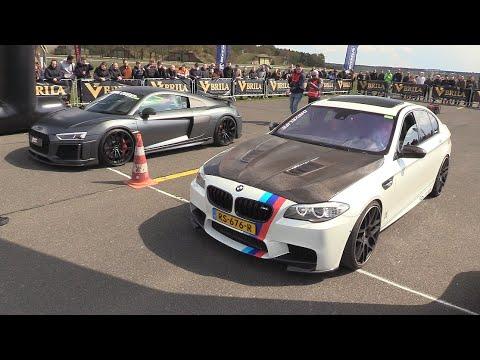 ABT Audi R8 V10 Plus Vs BMW M5 F10 Akrapovic