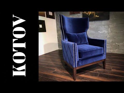 Fireplace Armchair. каминное кресло. Time-lapse