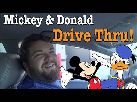 Mickey and Donald Order Drive Thru!