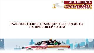 видео ПДД РФ Расположение транспортных средств на проезжей части