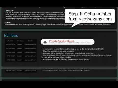 How to Bypass SMS Verification Using Receive-SMS.com