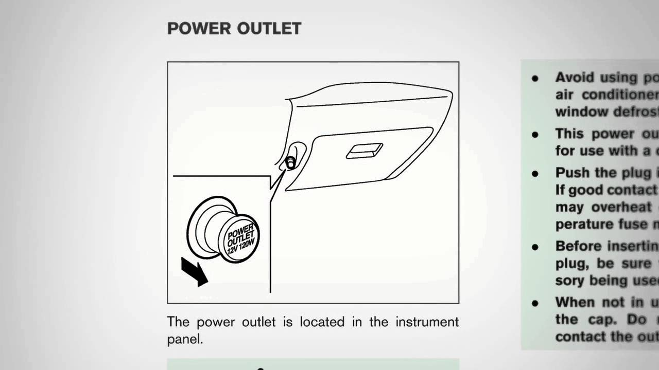 2012 NISSAN cube - Power Outlet - YouTube