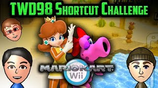 Mario Kart Wii Shortcuts - Colton vs Matt (TWD98 Shortcut Challenge: Basic)