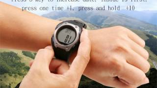 Taiwan G.pulse Heart Rate Monitor-M10 graphic instruction-1st MODE: Clock Mode