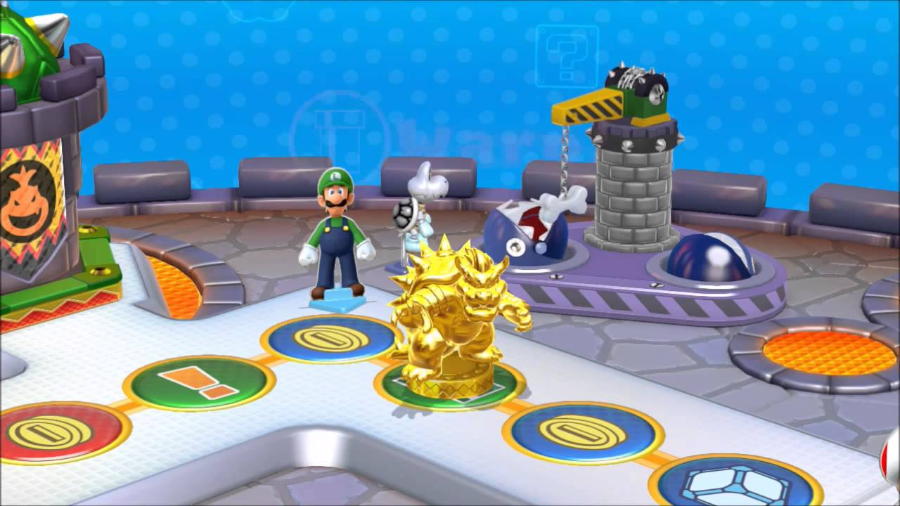 Mario Party 10 Amiibo Party Gold Bowser