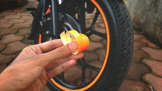 How to apply rim stripes on motorcycle correctly at home? Installing reflective rim tape rim sticker